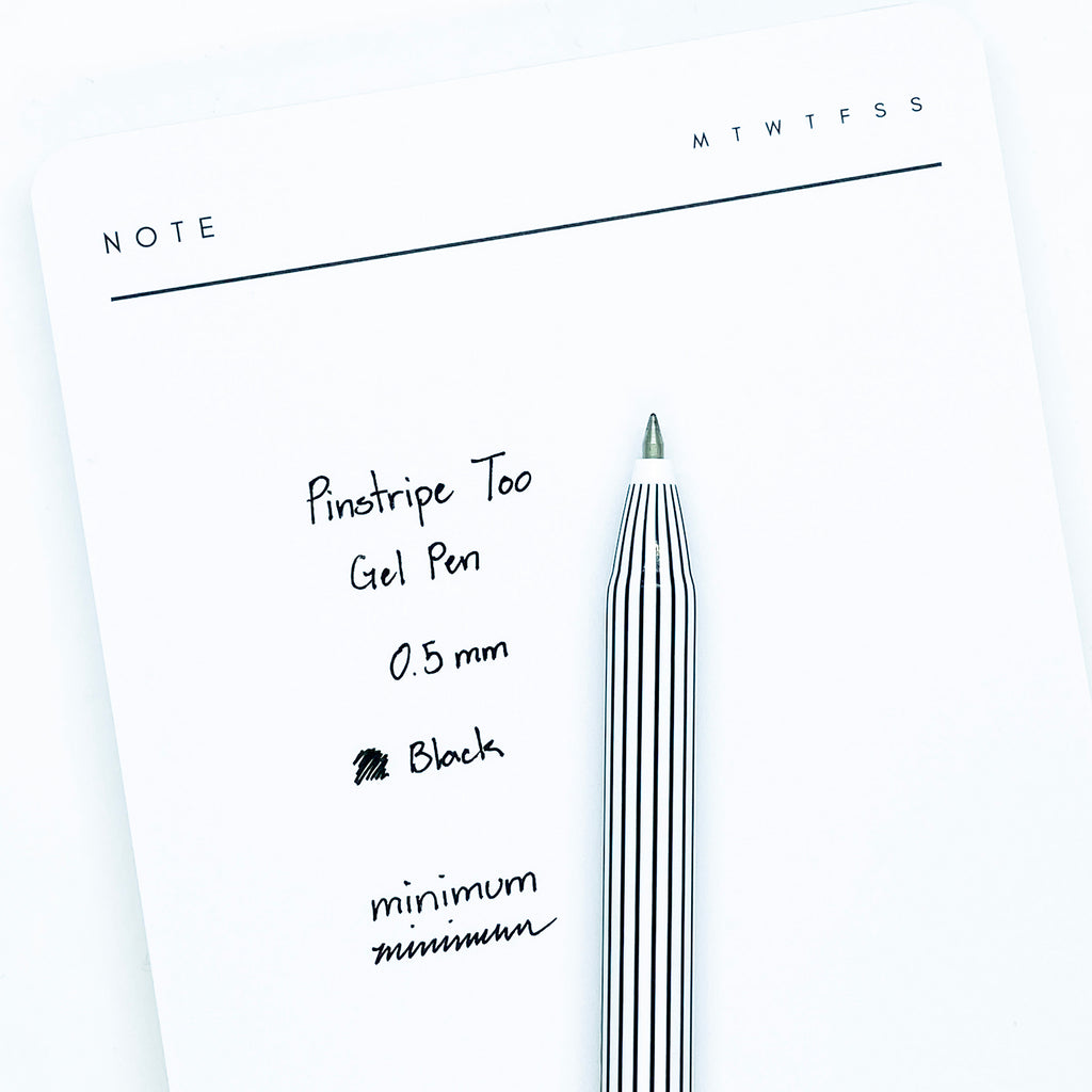 Pinstripe Too Gel Pen | Cloth & Paper | Stylish Rollerball Pens for Planning