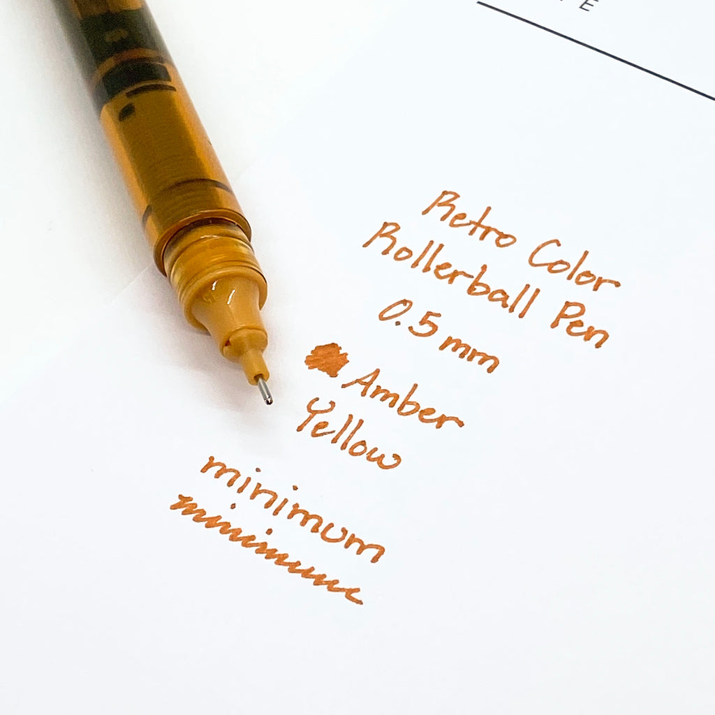 Retro Color Rollerball Pen | Amber Yellow