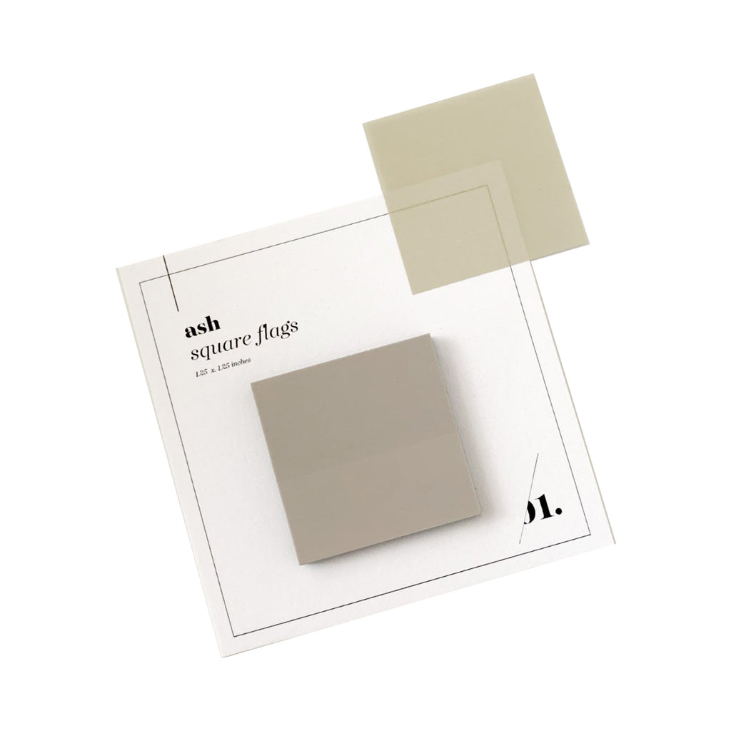 Square Transparent Page Flags | Ash