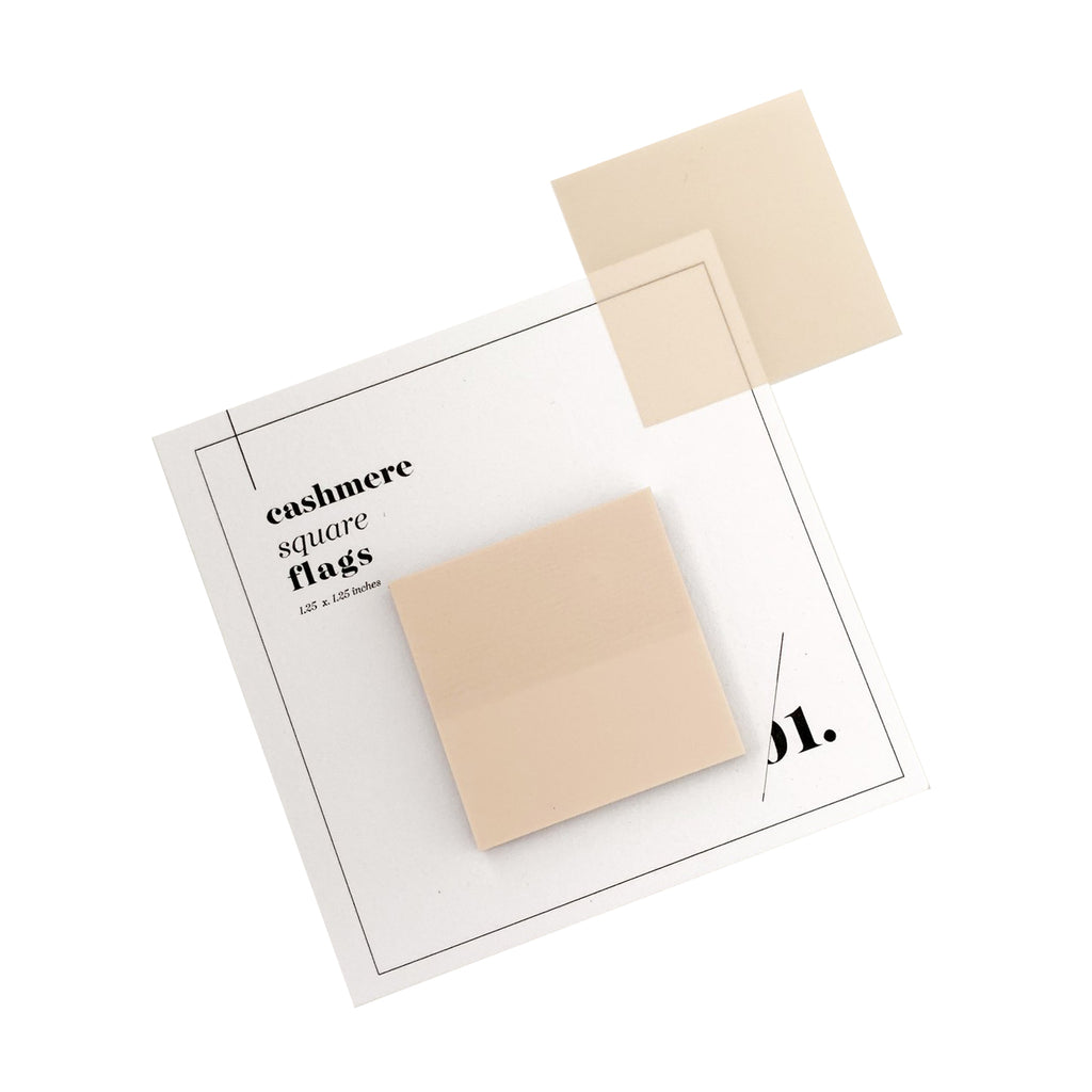 SQUARE TRANSPARENT PAGE FLAGS | CASHMERE