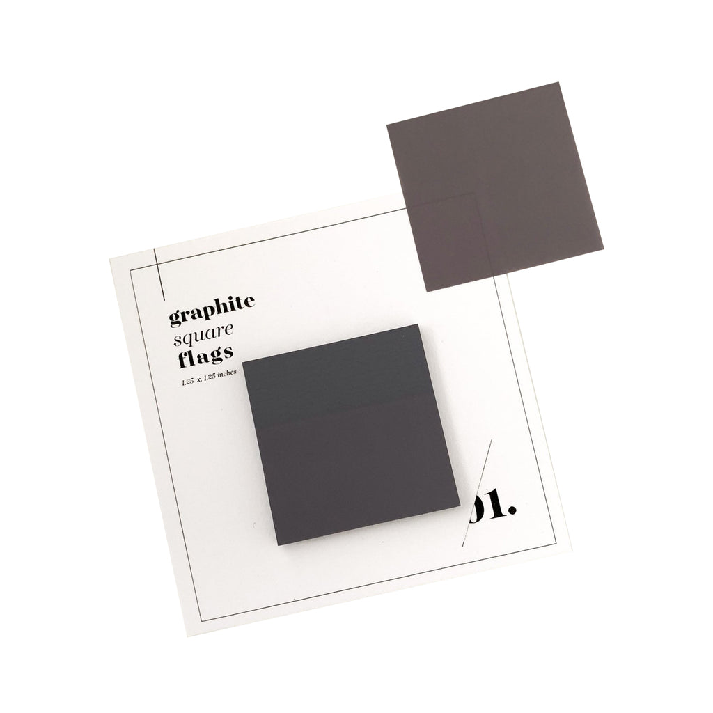 SQUARE TRANSPARENT PAGE FLAGS | GRAPHITE