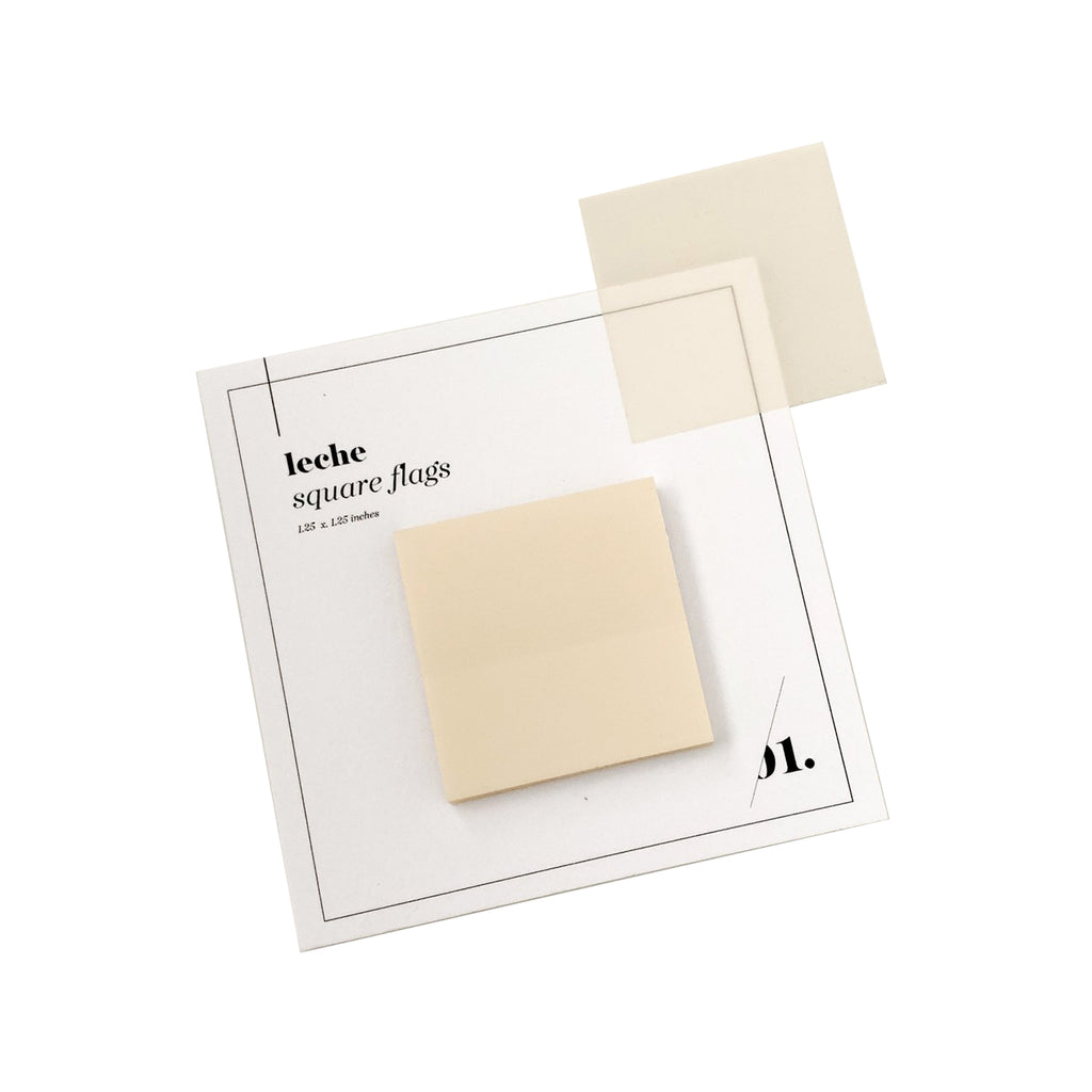 Square Transparent Page Flags | Leche