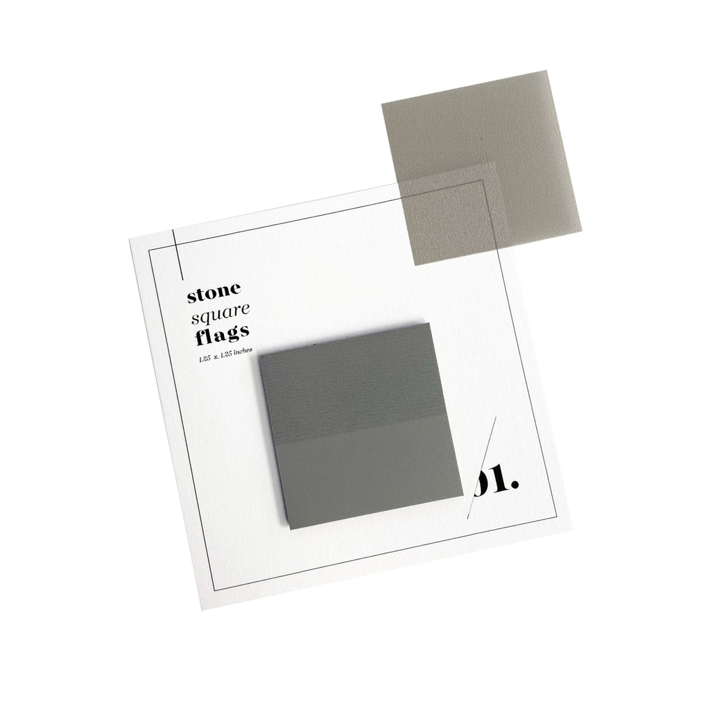 Square Transparent Page Flags | Stone