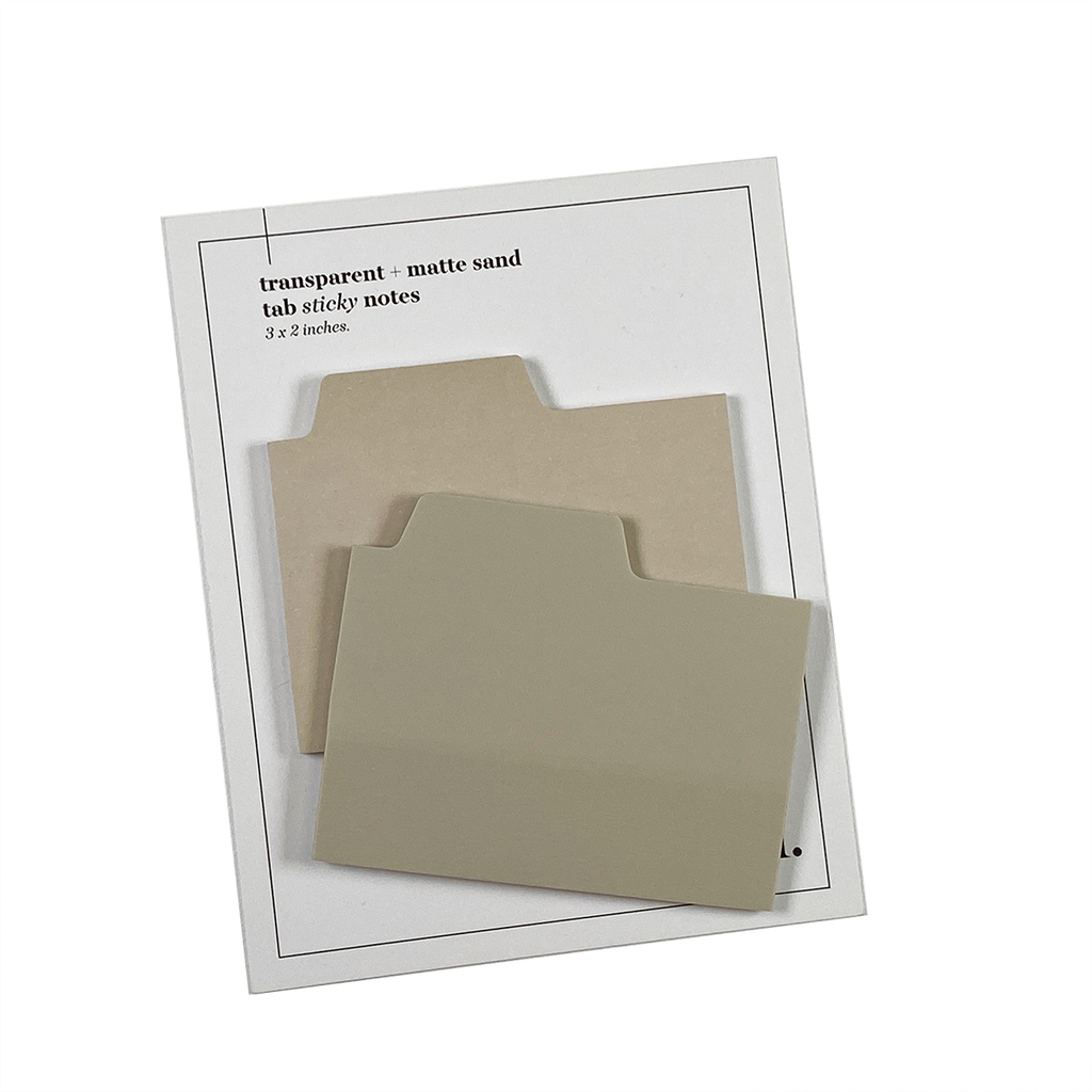 BLANK TAB STICKY NOTE SET | SAND