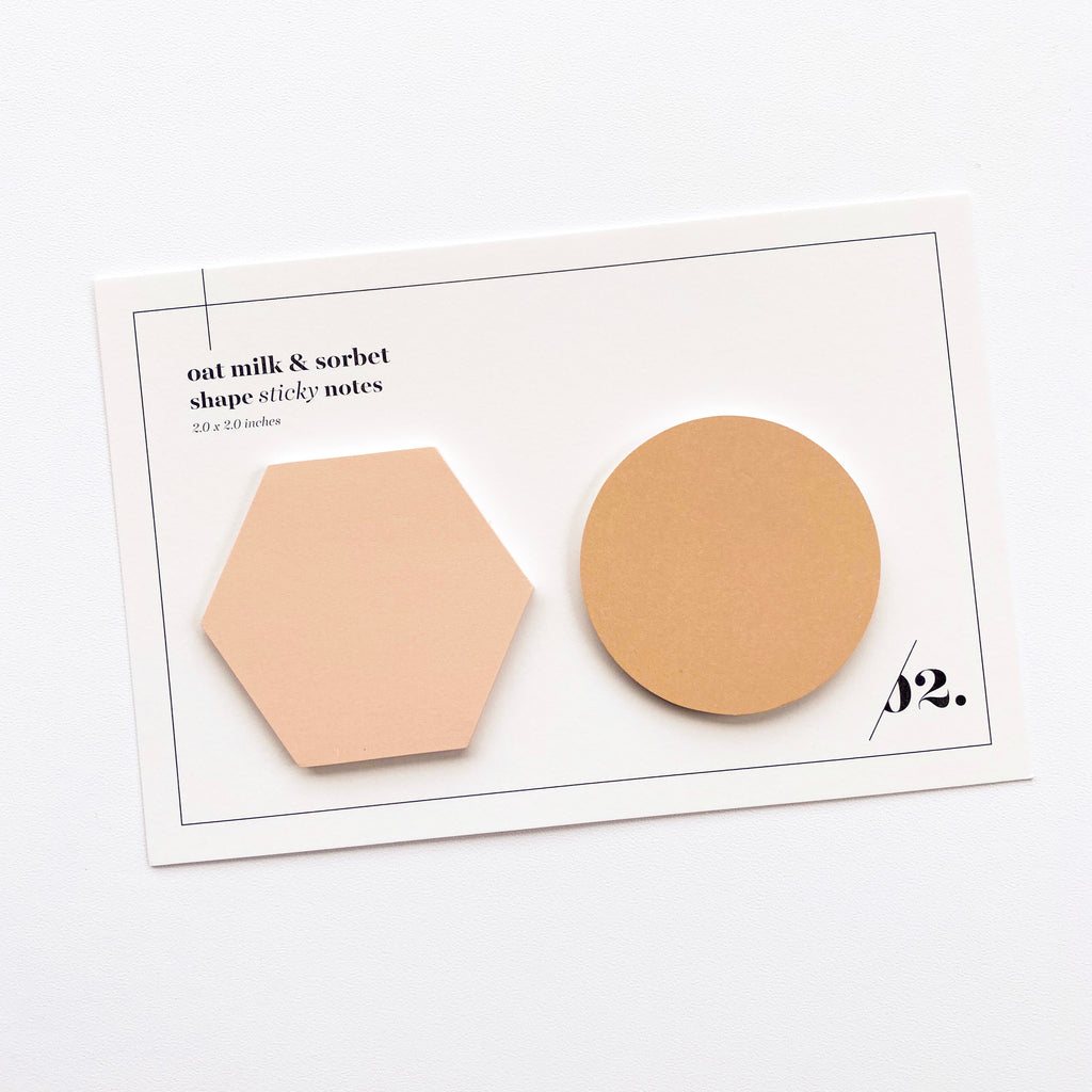 SHAPE STICKY NOTE SET | OAT MILK & SORBET