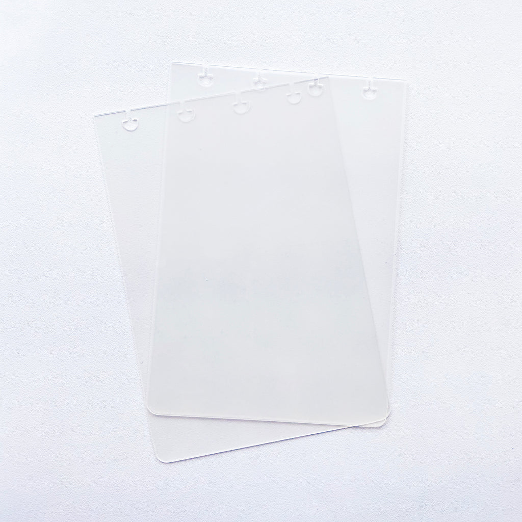 GLASS PLASTIC STICKER BOOK COVER