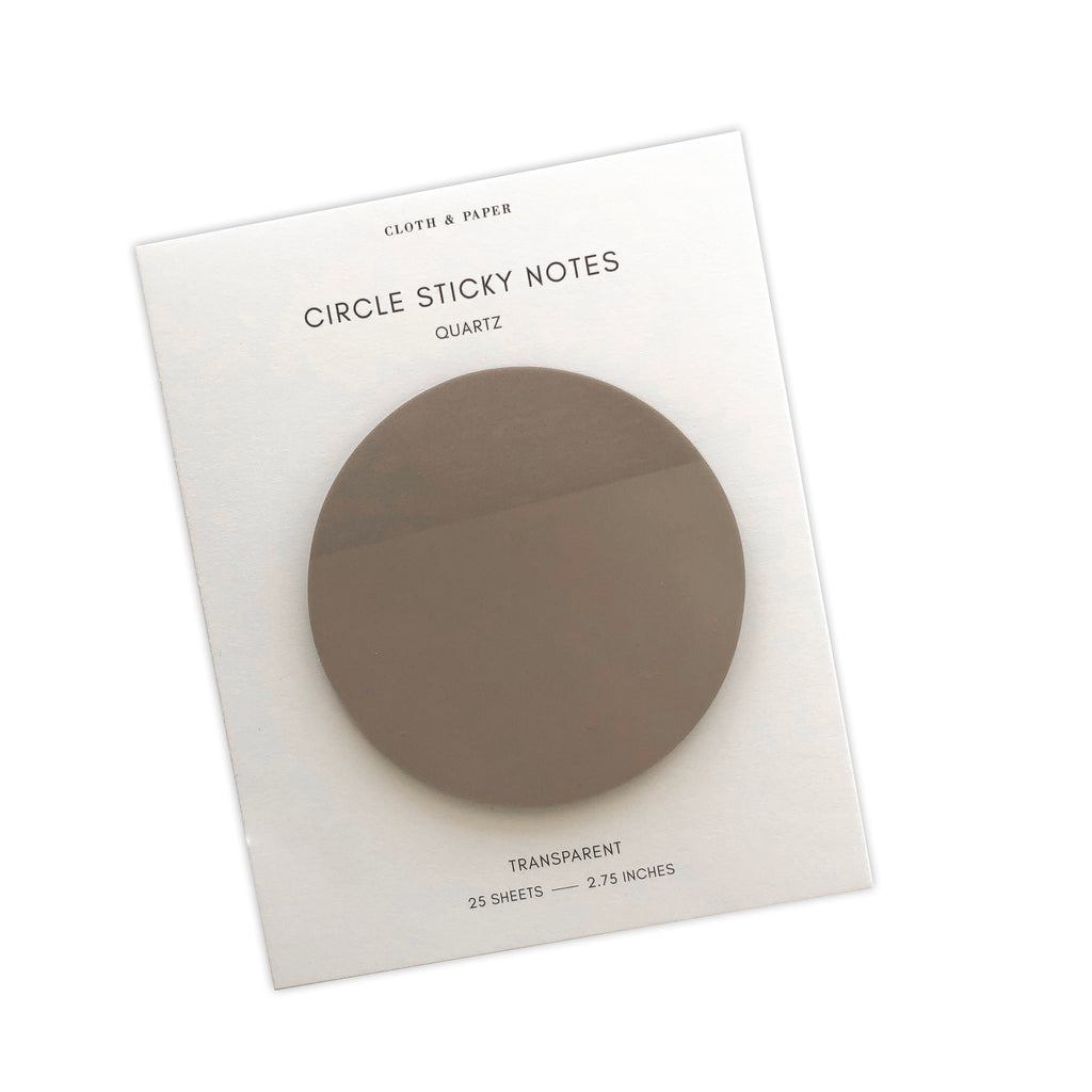 Transparent Circle Sticky Notes | Quartz | Cloth & Paper