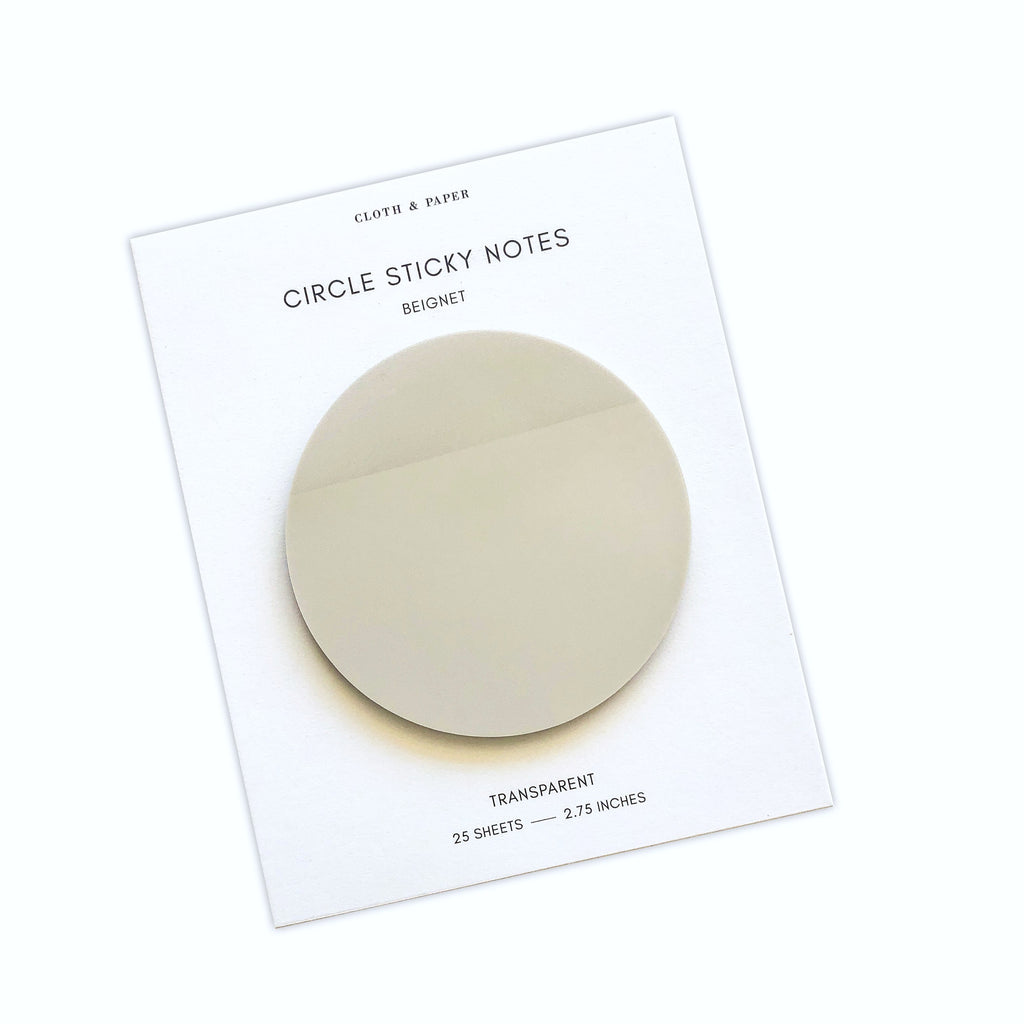 Transparent Circle Sticky Notes | Beignet | Cloth & Paper