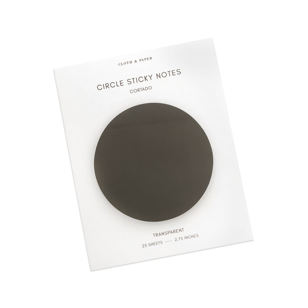 Transparent Circle Sticky Notes | Cortado | Cloth & Paper