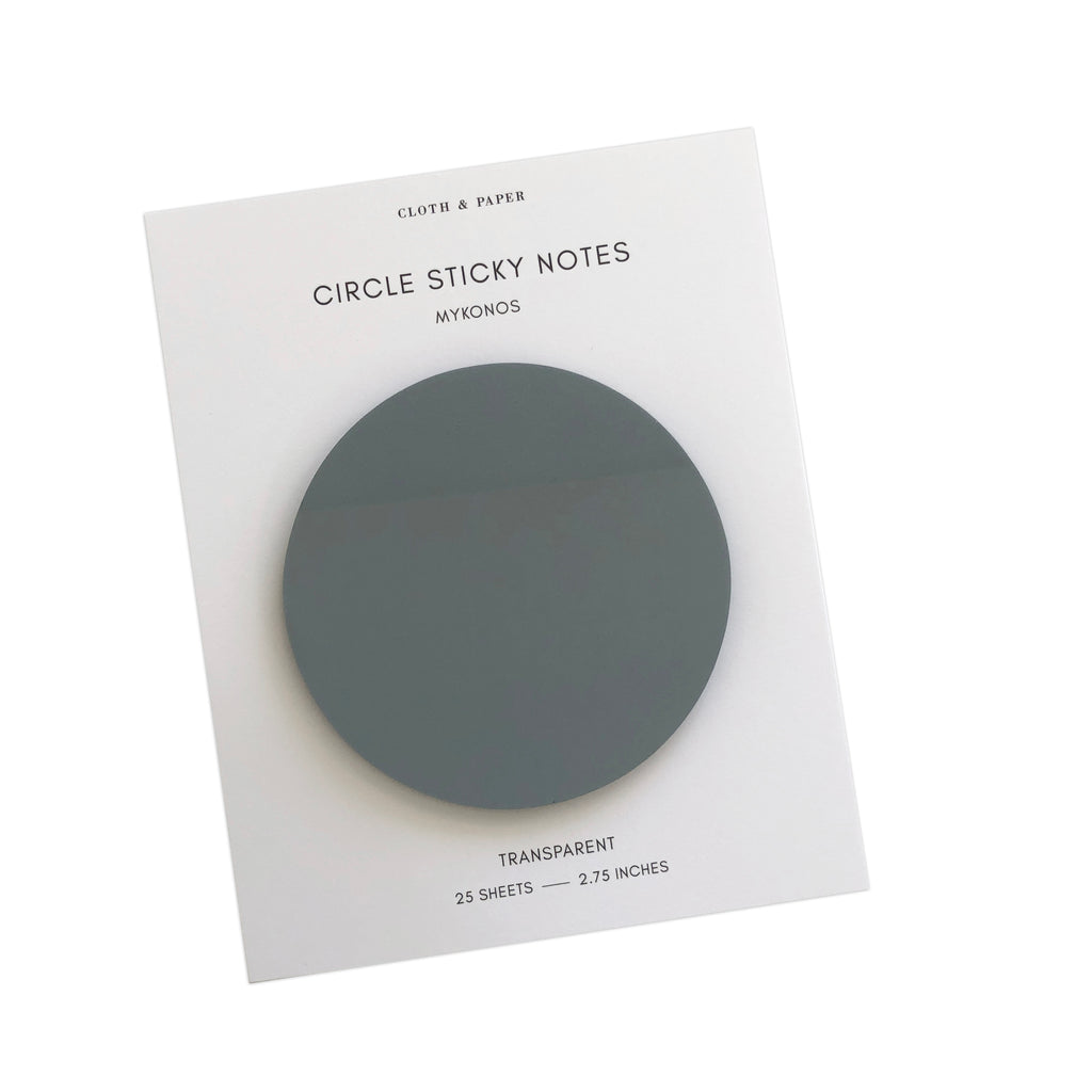 Transparent Circle Sticky Notes | Mykonos | Cloth & Paper