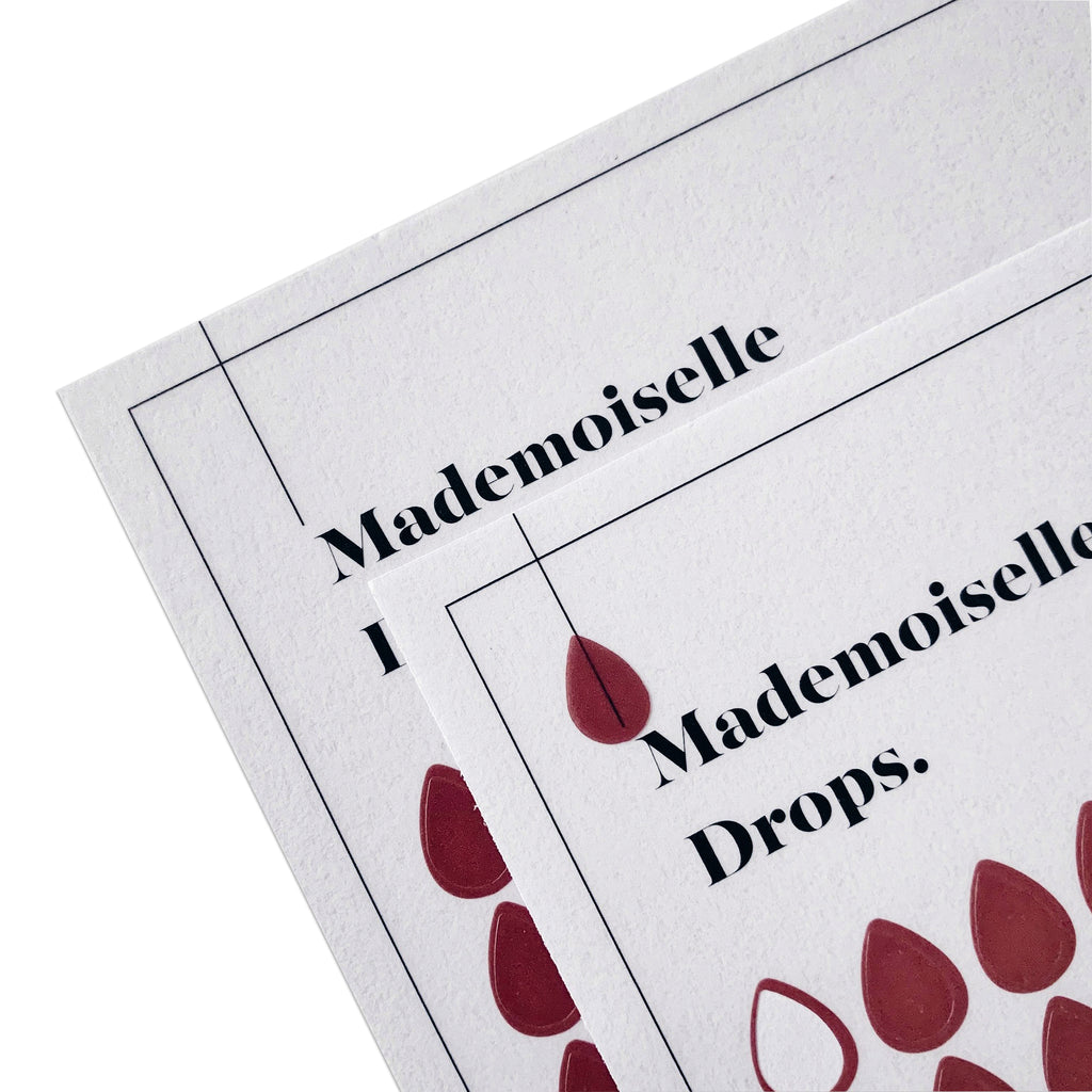 Transparent Shape Stickers | Drops | Mademoiselle | Cloth & Paper