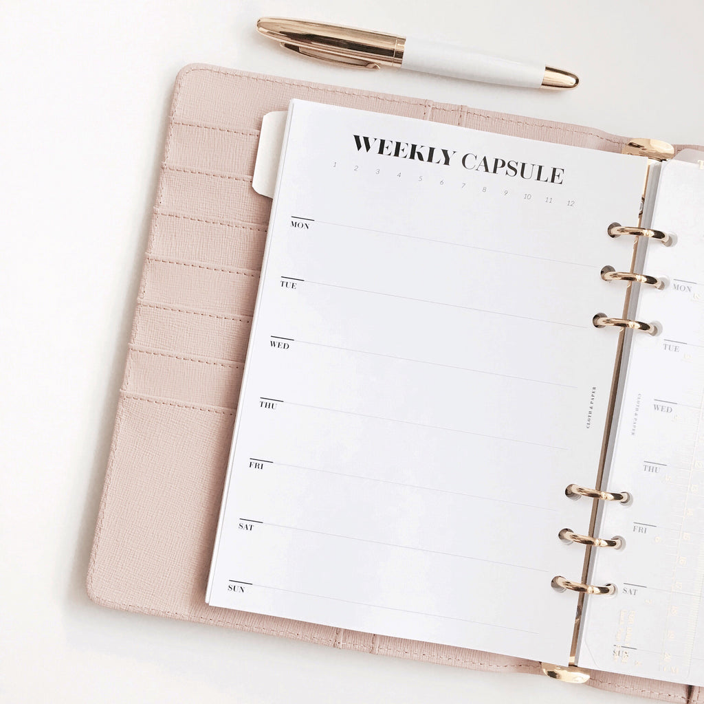 UNDATED WEEKLY PLANNER INSERTS