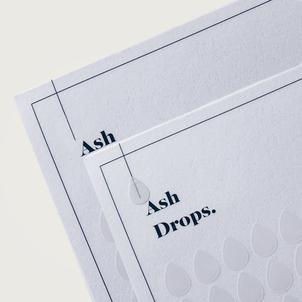 Transparent Shape Stickers | Drops | Ash
