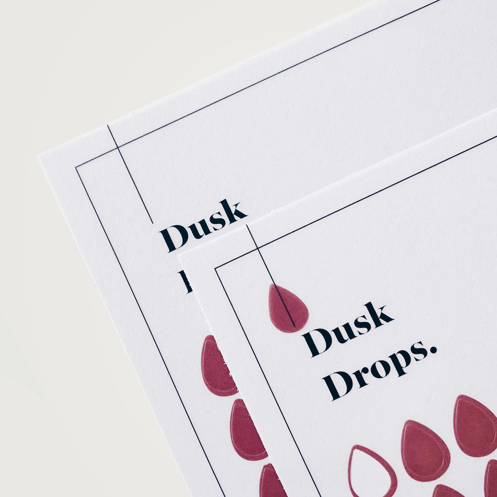 Transparent Shape Stickers | Drops | Dusk
