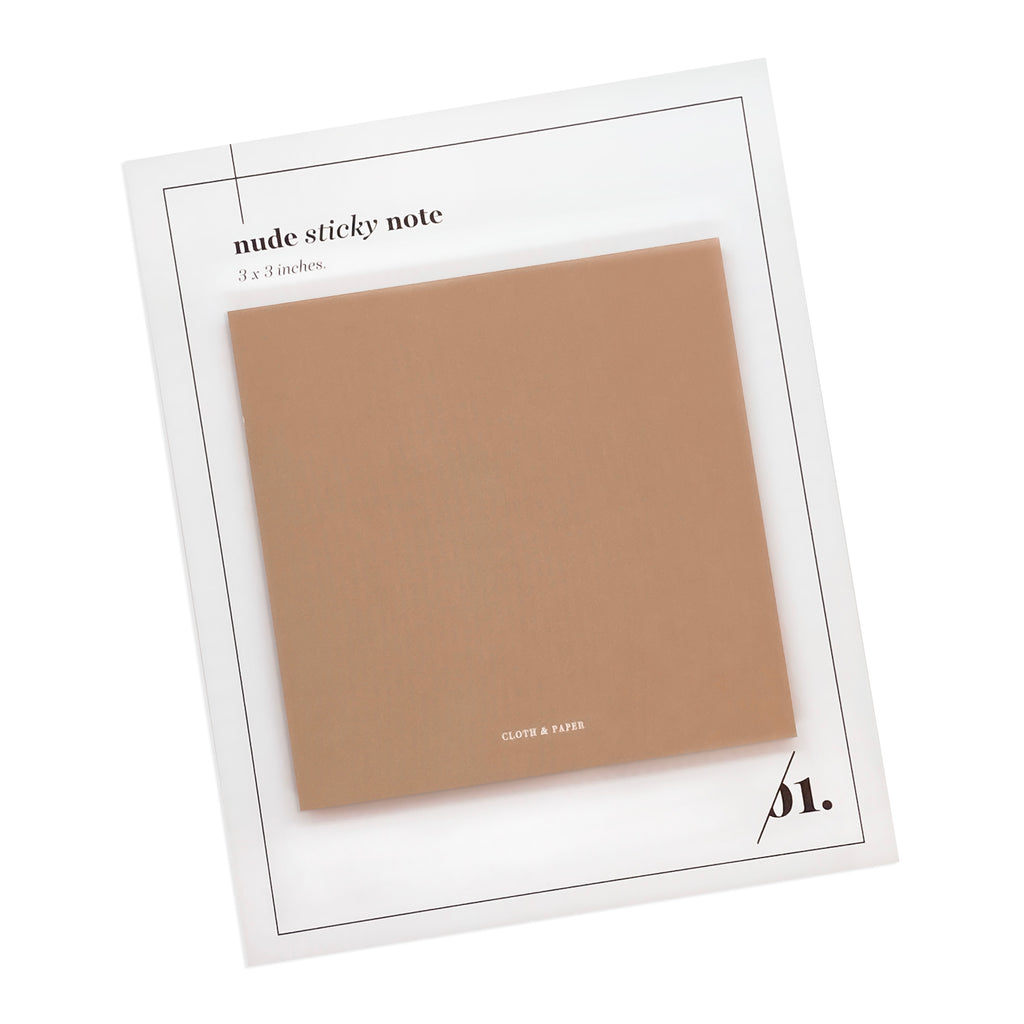 NOTE NEUTRALITY STICKY NOTES | NUDE