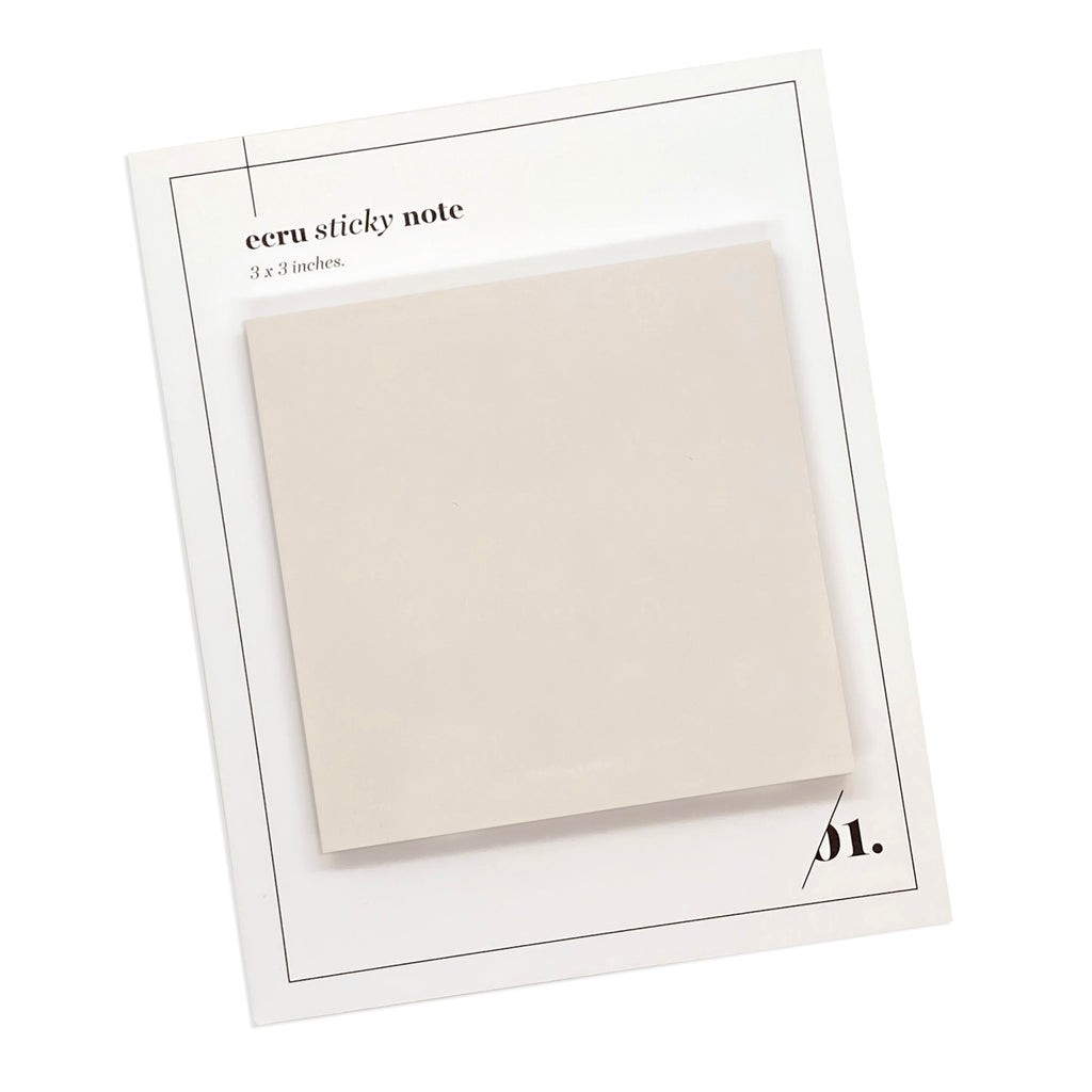 NOTE NEUTRALITY STICKY NOTES | ECRU