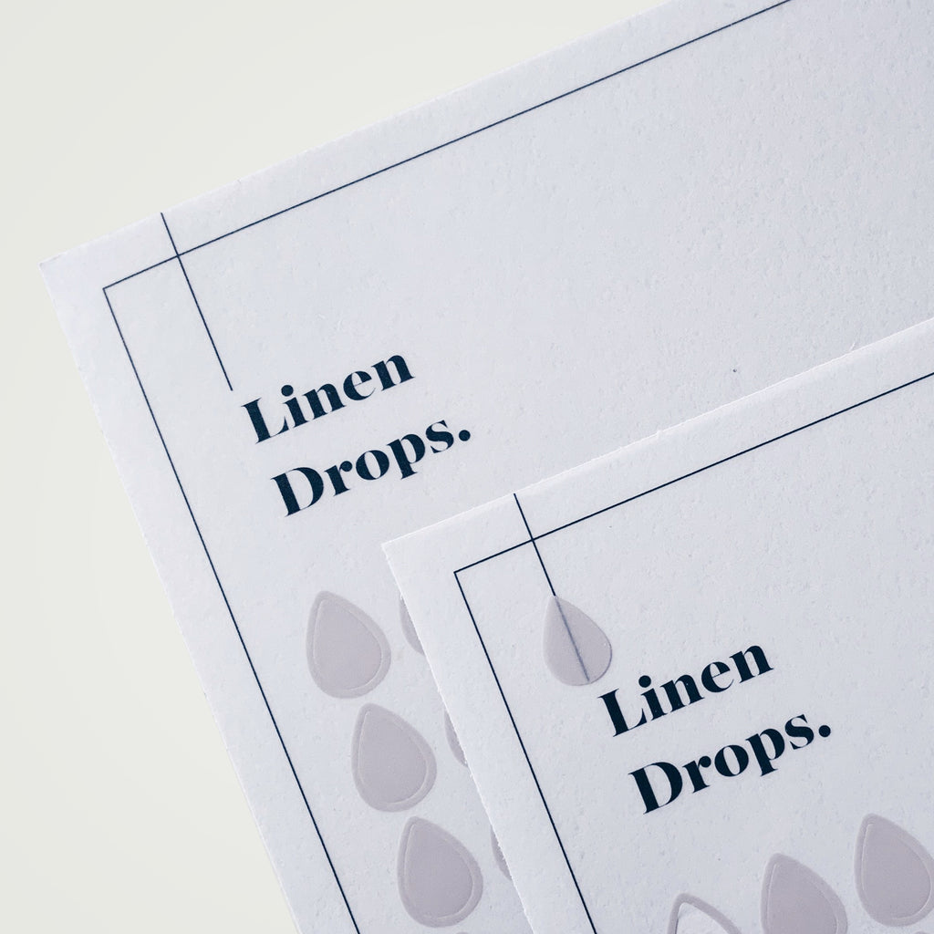 Transparent Shape Stickers | Drops | Linen