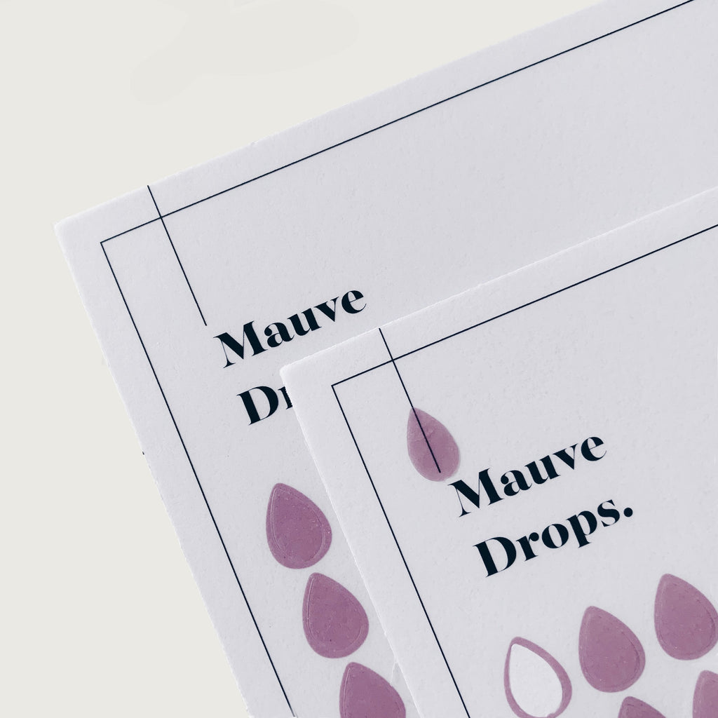 Transparent Shape Stickers | Drops | Mauve