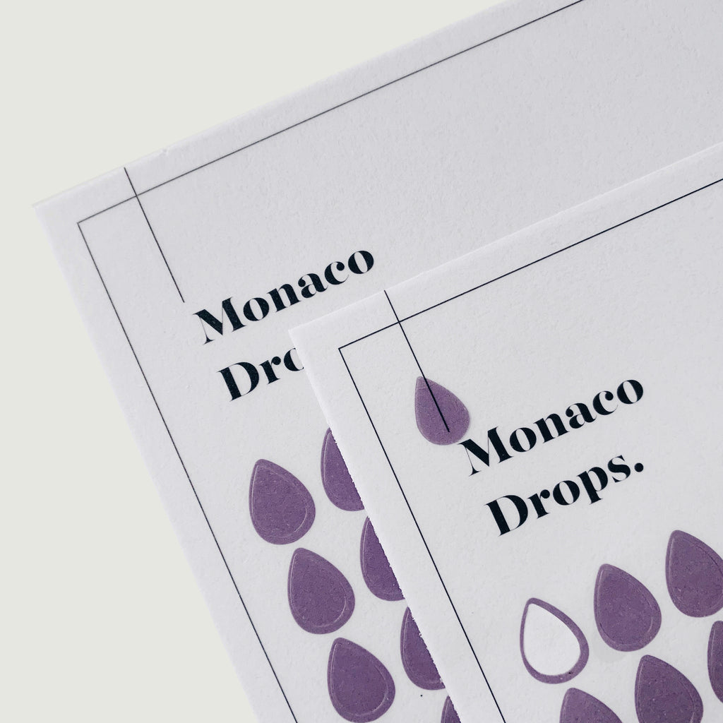 Transparent Shape Stickers | Drops | Monaco
