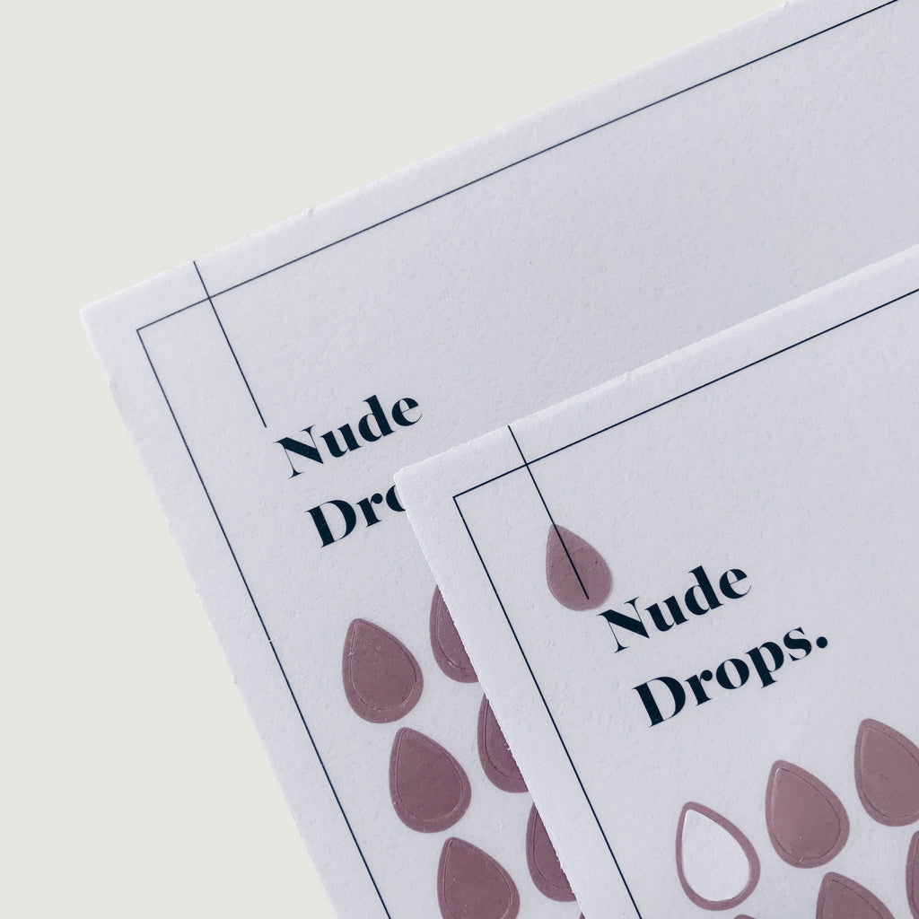 Transparent Shape Stickers | Drops | Nude