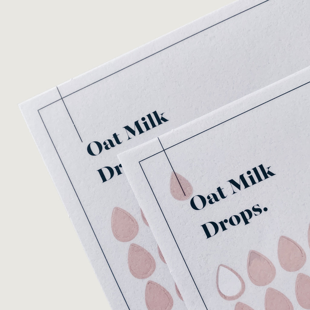 Transparent Shape Stickers | Drops | Oat Milk