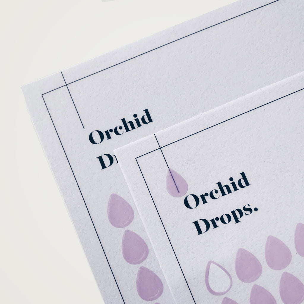 Transparent Shape Stickers | Drops | Orchid