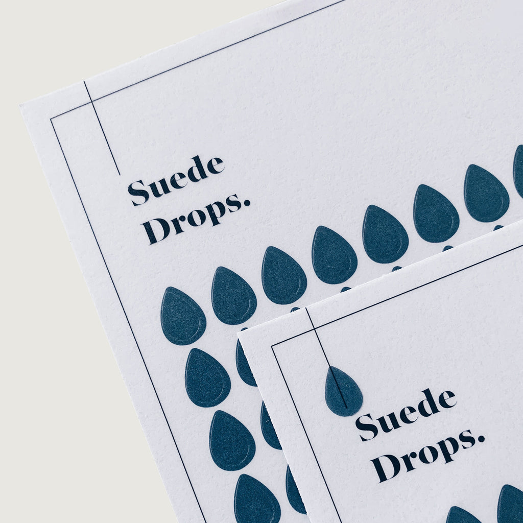 Transparent Shape Stickers | Drops | Suede