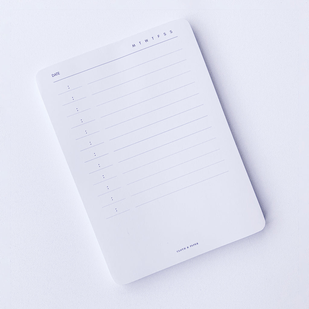 SMALL SCHEDULE NOTEPAD