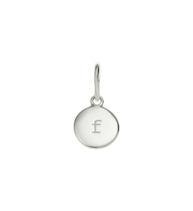 Little Kirstin Ash Circle Letter f Silver - stilecollettivo