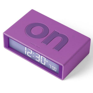 Lexon Flip Alarm Clock Purple