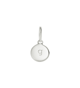 Little Kirstin Ash Circle Letter g Silver - stilecollettivo