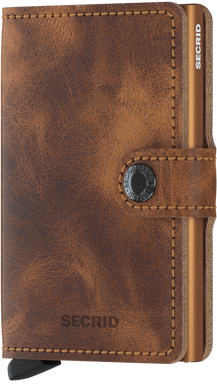 Secrid Mini Wallet Vintage Cognac Rust - stilecollettivo