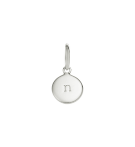 Little Kirstin Ash Circle Letter n Silver - stilecollettivo
