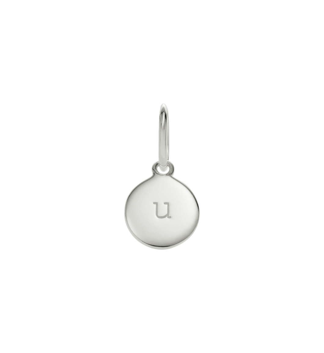 Little Kirstin Ash Circle Letter u Silver - stilecollettivo
