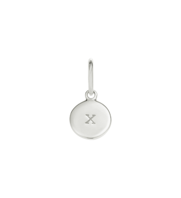 Little Kirstin Ash Circle Letter x Silver - stilecollettivo