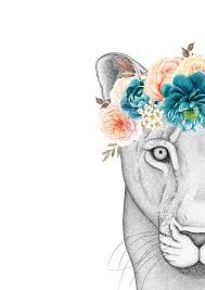 Dots by Donna Linda the Lioness with Flower Crown