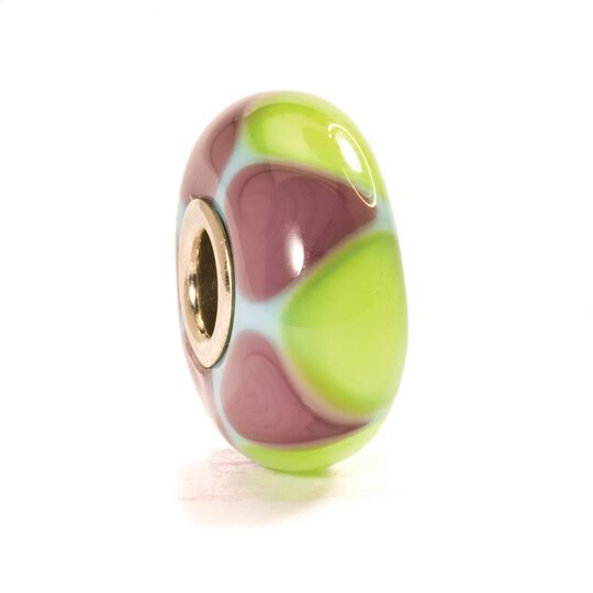 Trollbeads Green/Purple Triangles Glass Bead