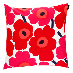 Marimekko Cushion Cover Pieni Unikko Red - stilecollettivo