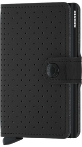 Secrid Mini Wallet Perforated Black - stilecollettivo
