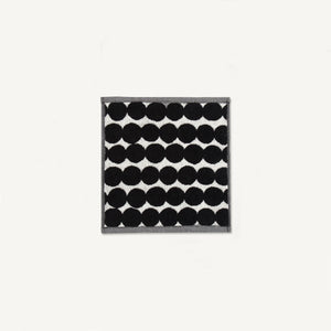Marimekko Rasymatto Face Towel Black and White