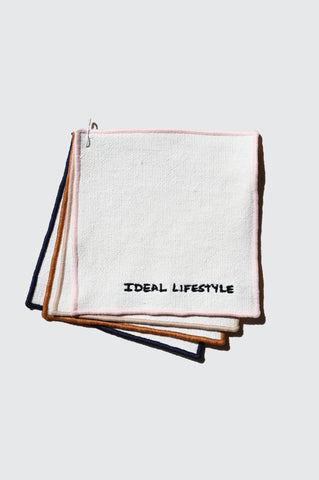 Ideal Lifestyle Embroidered Cocktail Napkins