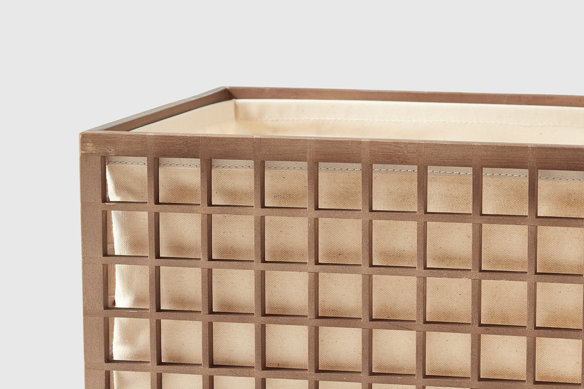 Bamboo Storage Bin With Cotton Liner