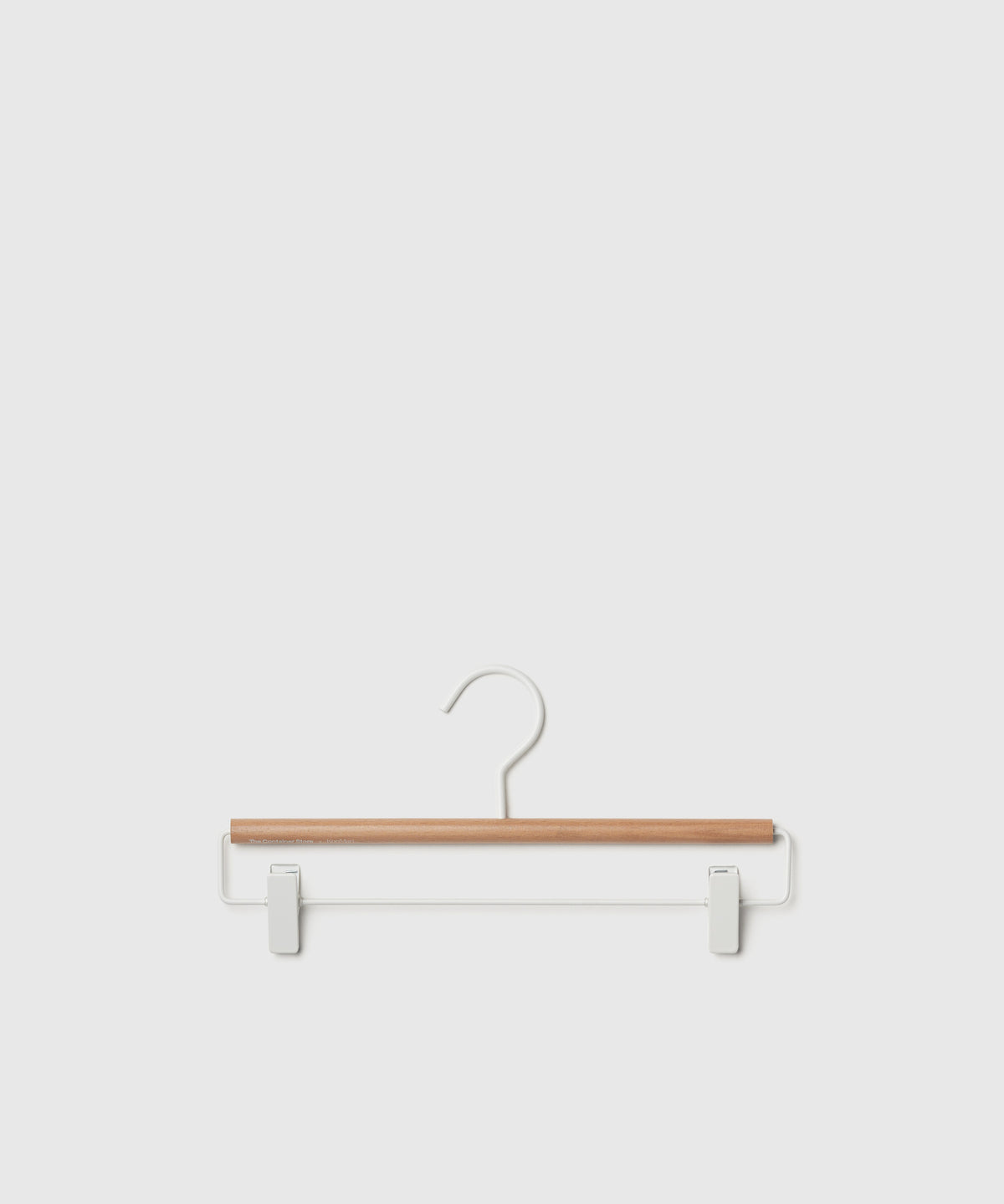 Matte White Metal Pant & Skirt Hangers – Set of 3