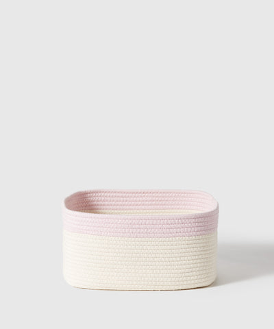 The Container Store x KonMari Kawaii Kids' Collection exclusively designed by Marie Kondo. Cotton rope storage bin is a perfect addition to nursery, playroom or kids' room. Comes in 4 colors and warm, natural rope.