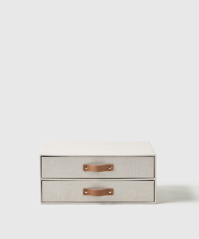 Paper storage drawer and organizer with handles. Thoughtfully designed by Marie Kondo for The Container Store x KonMari.