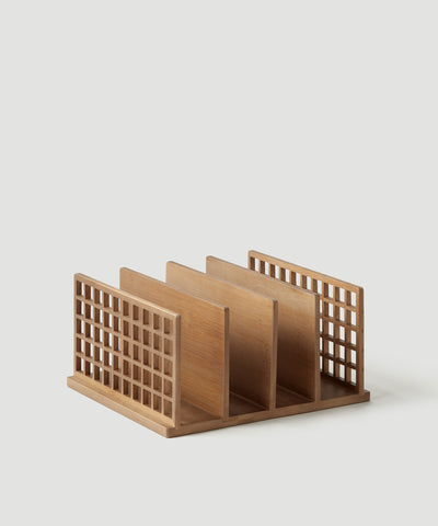 The Container Store x KonMari exclusive Shoji Collection designed by Marie Kondo. Bamboo file divider, desk and office organizer made from polished and sustainable bamboo.