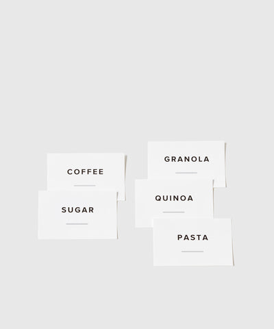 Food Container Labels for Kitchen | KonMari by Marie Kondo  x The Container Store