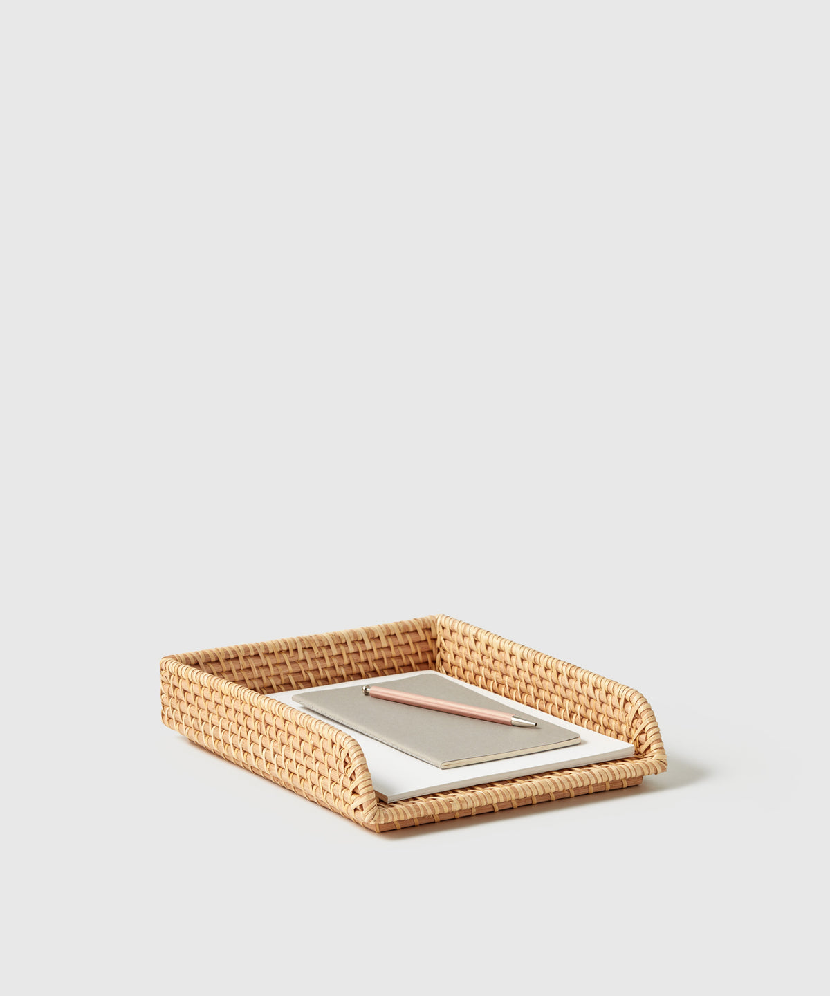 Woven Rattan Stackable Letter Tray