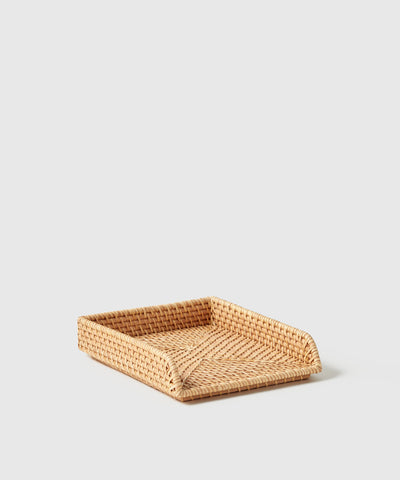 Stackable rattan letter tray by The Container Store x KonMari by Marie Kondo