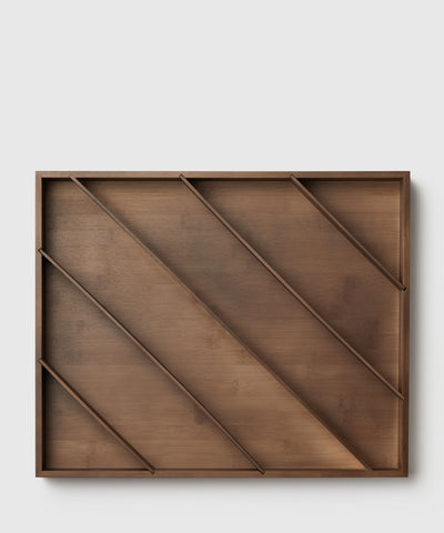 Diagonal, bamboo kitchen drawer organizer designed by Marie Kondo.